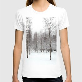 tree patterns in the snow T-shirt