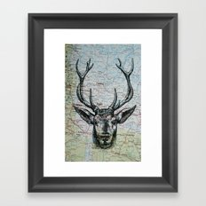 Russian Deer Framed Art Print