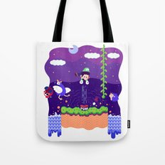 Tiny Worlds - Super Mario Bros. 2: Luigi Tote Bag