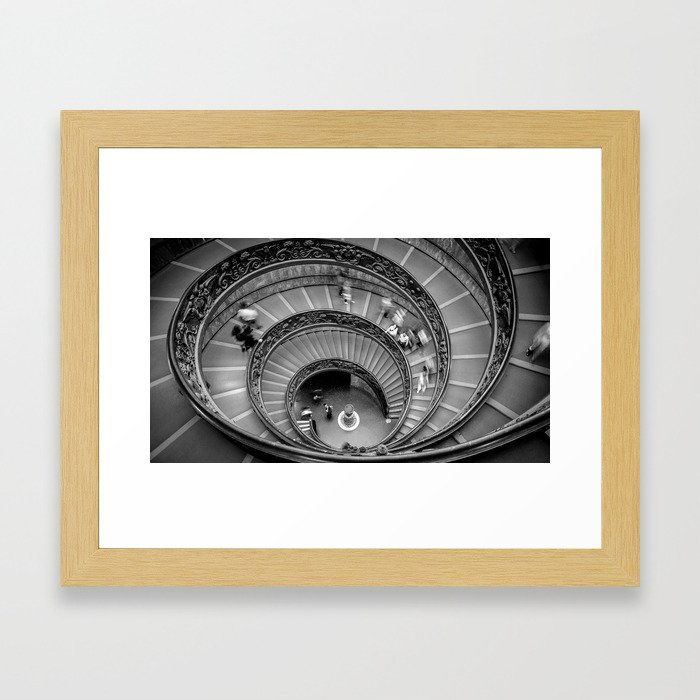Down the spiral staircase Framed Art Print