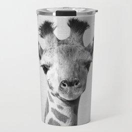 Baby Giraffe - Black & White Travel Mug