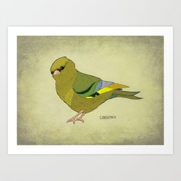 The Greenfinch Art Print