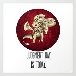 Judgment Dragon inspired card Art Print