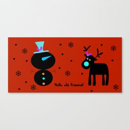 Snow men Canvas Print
