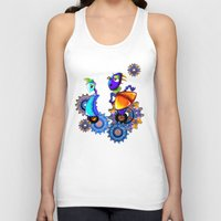 robots Tank Tops featuring Robots by aboutlaila