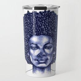 Spiral Afro Travel Mug
