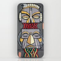 totem iPhone & iPod Skins featuring Totem by Sébastien BOUVIER