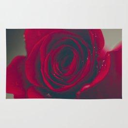 Red Rose Floral Bliss Rug