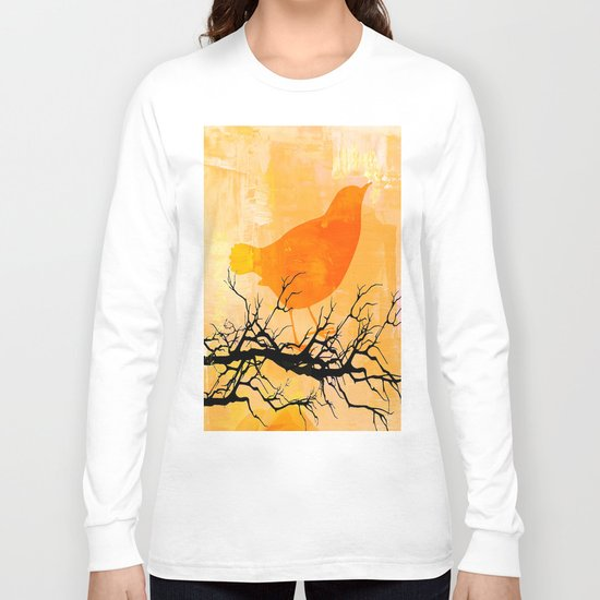 Orange Bird  Long Sleeve T-shirt