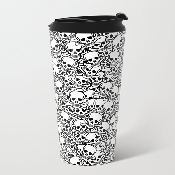 Skulls and crossbones Metal Travel Mug