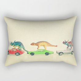 Dinosaurs Ride Cars Rectangular Pillow