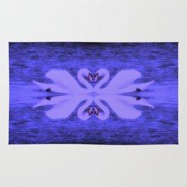 Swans in Love (in a purple haze) Rug