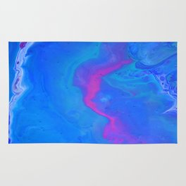 Fantasy II - Bright Sapphire Blue Ultra Violet Purple Fluid Abstract Rug