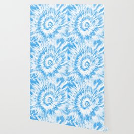 Light Ocean Blue Tie Dye Wallpaper