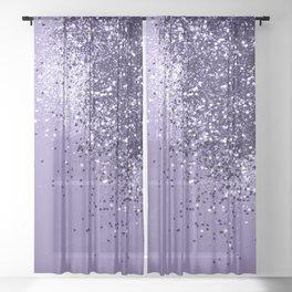 ULTRA VIOLET Glitter Dream #1 #shiny #decor #art #society6 Sheer Curtain
