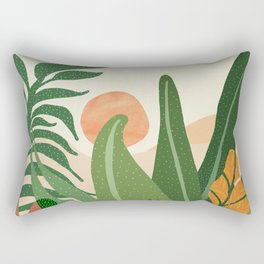 Desert Garden Sunset Rectangular Pillow