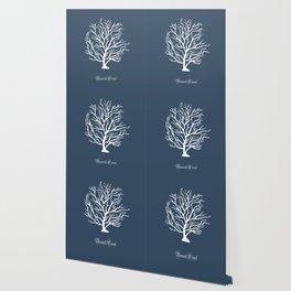 AFE Branch Coral, Blue Grey Wallpaper