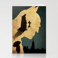 bat man Stationery Cards featuring BAT MAN  by Edmond Lim