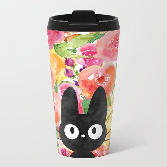 Jiji in Bloom Metal Travel Mug