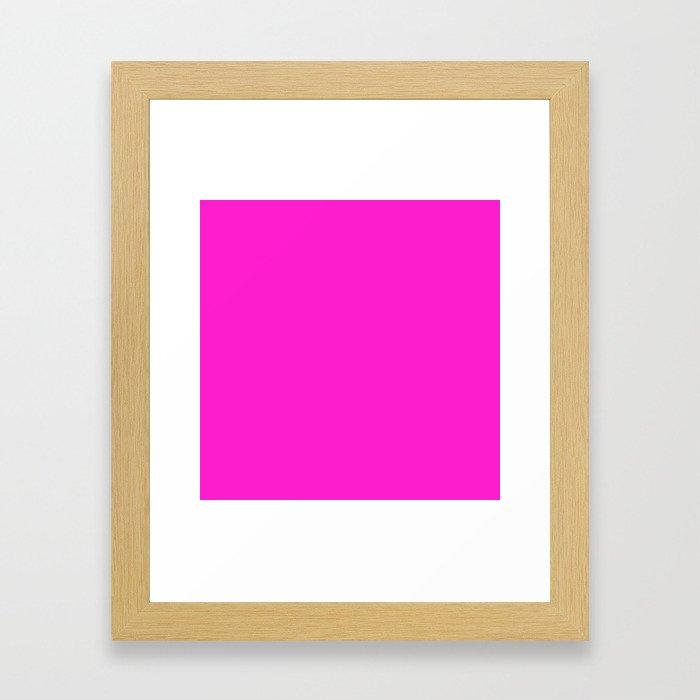 (Hot Magenta) Framed Art Print