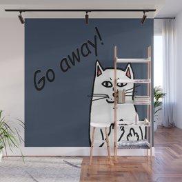Naughty Cat Wall Mural