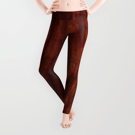 Beautiful Unique mahogany red wood veneer design Leggings