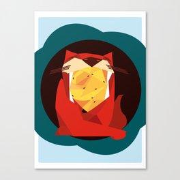 cat&birds Canvas Print