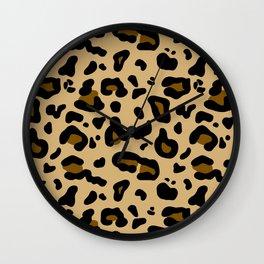 Safari Leopard Print Wall Clock