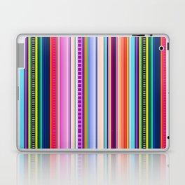 Mexican Serape Inspired Colorful Stripe Summer Fabric Laptop & iPad Skin