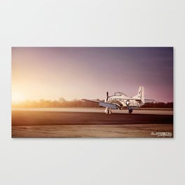 Vintage Plane at Bowman Air Field Canvas Print
