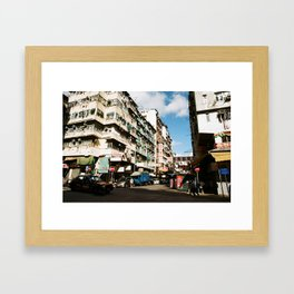Hong Kong Street Framed Art Print