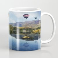 aviation Mugs featuring Morning Flight by Ian Mitchell