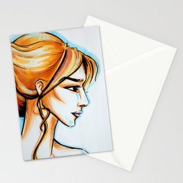 blonde girl Stationery Cards