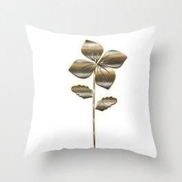Nature Flower Gold Look Throw Pillow