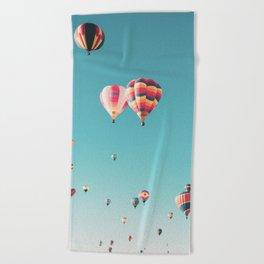 Hot Air Balloon Ride Beach Towel