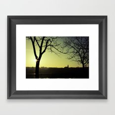 Derry Silhouette Framed Art Print