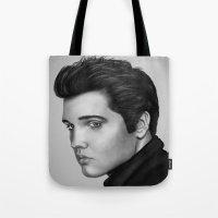 elvis Tote Bags featuring Elvis by MPL-ART