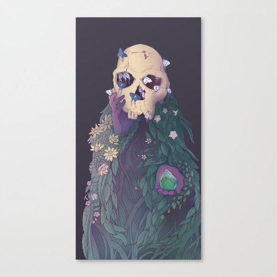 Ancestor Series- Habilis with Biface Canvas Print