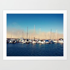 Boats in the Bay Art Print