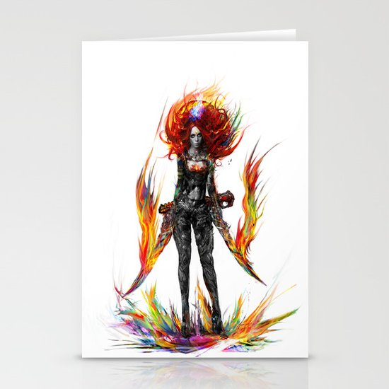 color attack Stationery Cards
