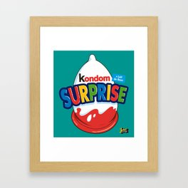 Kondom Surprise Framed Art Print