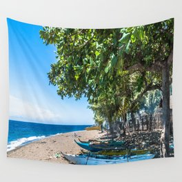 Traditional Kayaks Wall Tapestry