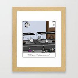 Control Group Lab Mice Cartoon Framed Art Print