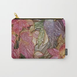 Glossy autumn leaves Carry-All Pouch