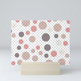 Scandinavian pattern design Mini Art Print