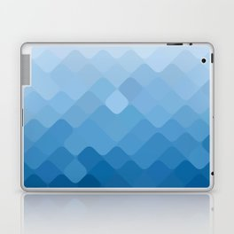 rhombus fantasy blue gradient Laptop & iPad Skin