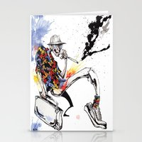 hunter s thompson Stationery Cards featuring Hunter S Thompson by BINDU by BINDU