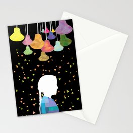 turn on the bright lights Stationery Cards