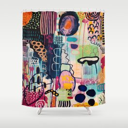 Neon Ghouls Shower Curtain