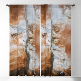 Abstract River in Iceland's Volcanic Highlands – Landscape Photography Blackout Curtain